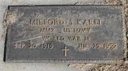 KARLI, MILFORD S. (WWII) - Minnehaha County, South Dakota | MILFORD S. (WWII) KARLI - South Dakota Gravestone Photos