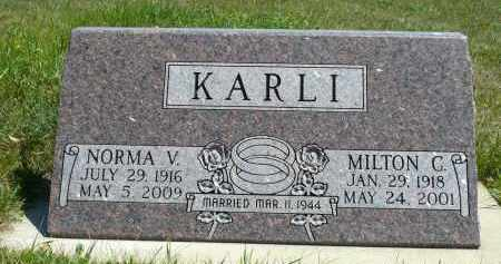 ANDERSON KARLI, NORMA V. - Minnehaha County, South Dakota | NORMA V. ANDERSON KARLI - South Dakota Gravestone Photos