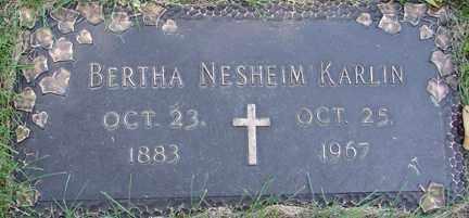 KARLIN, BERTHA - Minnehaha County, South Dakota   BERTHA KARLIN - South Dakota Gravestone Photos
