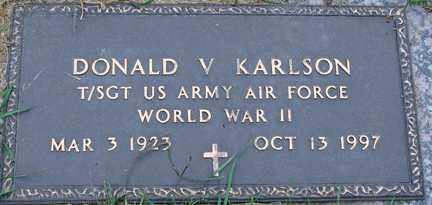 KARLSON, DONALD V. (WWII) - Minnehaha County, South Dakota | DONALD V. (WWII) KARLSON - South Dakota Gravestone Photos