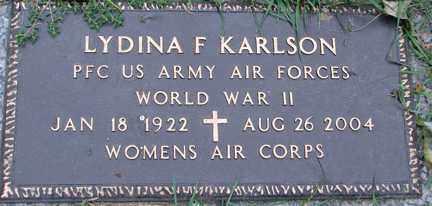 KARLSON, LYDINA F. (WWII) - Minnehaha County, South Dakota | LYDINA F. (WWII) KARLSON - South Dakota Gravestone Photos