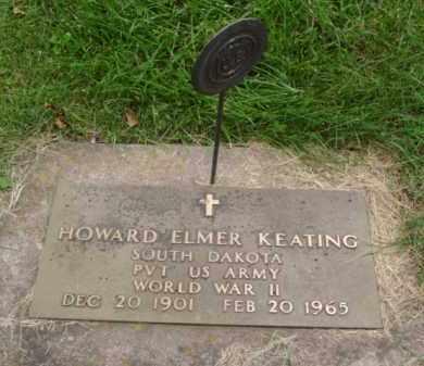 KEATING, HOWARD ELMER - Minnehaha County, South Dakota | HOWARD ELMER KEATING - South Dakota Gravestone Photos