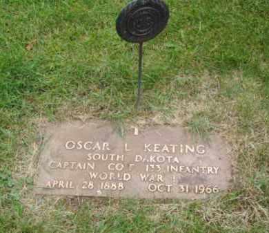 KEATING, OSCAR L. - Minnehaha County, South Dakota   OSCAR L. KEATING - South Dakota Gravestone Photos