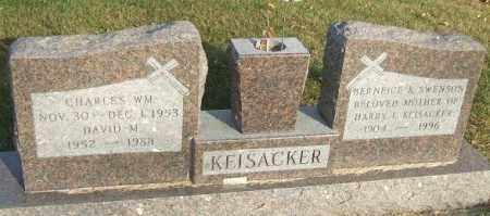 KEISACKER, DAVID M. - Minnehaha County, South Dakota | DAVID M. KEISACKER - South Dakota Gravestone Photos
