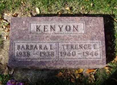 KENYON, BARBARA L. - Minnehaha County, South Dakota | BARBARA L. KENYON - South Dakota Gravestone Photos