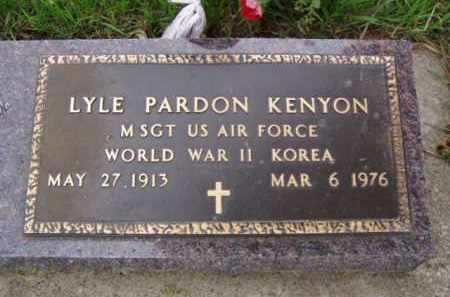 KENYON, LYLE PARDON - Minnehaha County, South Dakota | LYLE PARDON KENYON - South Dakota Gravestone Photos