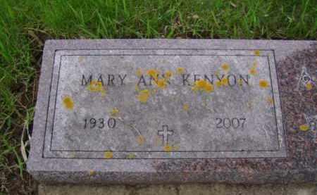 KENYON, MARY ANN - Minnehaha County, South Dakota   MARY ANN KENYON - South Dakota Gravestone Photos