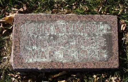 KIMBALL, JOHN W. - Minnehaha County, South Dakota | JOHN W. KIMBALL - South Dakota Gravestone Photos