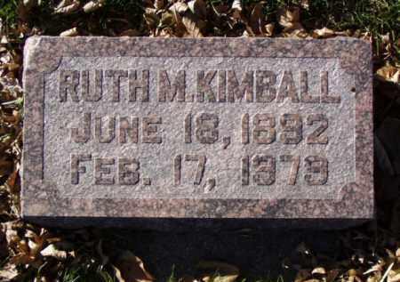 KIMBALL, RUTH M. - Minnehaha County, South Dakota | RUTH M. KIMBALL - South Dakota Gravestone Photos