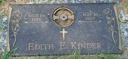 KINDER, EDITH E. - Minnehaha County, South Dakota | EDITH E. KINDER - South Dakota Gravestone Photos
