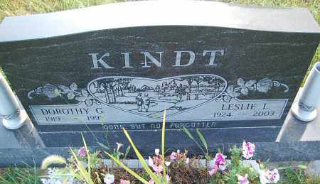 KINDT, LESLIE L. - Minnehaha County, South Dakota | LESLIE L. KINDT - South Dakota Gravestone Photos