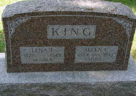 KING, ALLEN C. - Minnehaha County, South Dakota   ALLEN C. KING - South Dakota Gravestone Photos