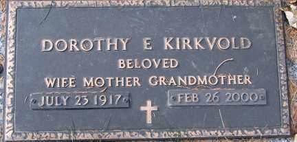 KIRKVOLD, DOROTHY E, - Minnehaha County, South Dakota | DOROTHY E, KIRKVOLD - South Dakota Gravestone Photos