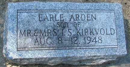 KIRKVOLD, EARLE ARDEN - Minnehaha County, South Dakota | EARLE ARDEN KIRKVOLD - South Dakota Gravestone Photos