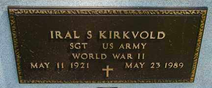 KIRKVOLD, IRAL S. (WWII) - Minnehaha County, South Dakota | IRAL S. (WWII) KIRKVOLD - South Dakota Gravestone Photos