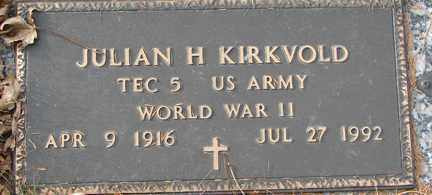 KIRKVOLD, JULIAN H. (WWII) - Minnehaha County, South Dakota | JULIAN H. (WWII) KIRKVOLD - South Dakota Gravestone Photos