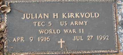 KIRKVOLD, JULIAN H. (WWII) - Minnehaha County, South Dakota | JULIAN H. (WWII) KIRKVOLD - South Dakota Gravestone Photos