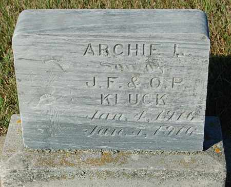 KLUCK, ARCHIE L. - Minnehaha County, South Dakota | ARCHIE L. KLUCK - South Dakota Gravestone Photos