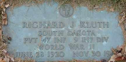 KLUTH, RICHARD J. (WWII) - Minnehaha County, South Dakota   RICHARD J. (WWII) KLUTH - South Dakota Gravestone Photos