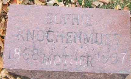 KNOCHENMUSS, SOPHIE - Minnehaha County, South Dakota | SOPHIE KNOCHENMUSS - South Dakota Gravestone Photos