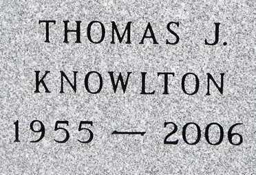 KNOWLTON, THOMAS  J. - Minnehaha County, South Dakota | THOMAS  J. KNOWLTON - South Dakota Gravestone Photos