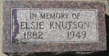 KNUDTSON, ELSIE - Minnehaha County, South Dakota | ELSIE KNUDTSON - South Dakota Gravestone Photos