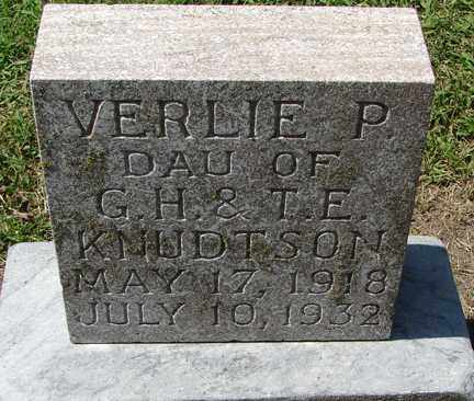 KNUDTSON, VERLIE P. - Minnehaha County, South Dakota | VERLIE P. KNUDTSON - South Dakota Gravestone Photos