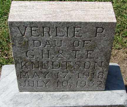 KNUDTSON, VERLIE P. - Minnehaha County, South Dakota   VERLIE P. KNUDTSON - South Dakota Gravestone Photos