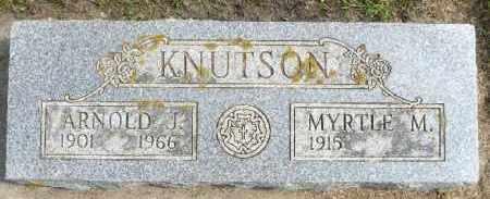 KNUTSON, ARNOLD J. - Minnehaha County, South Dakota | ARNOLD J. KNUTSON - South Dakota Gravestone Photos