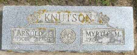 KNUTSON, ARNOLD J. - Minnehaha County, South Dakota | ARNOLD J. KNUTSON - South Dakota Gravestone Photos