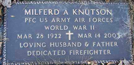 KNUTSON, MILFERD A. (WWII) - Minnehaha County, South Dakota | MILFERD A. (WWII) KNUTSON - South Dakota Gravestone Photos