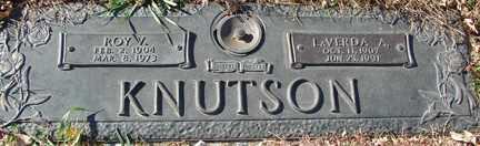 KNUTSON, ROY V. - Minnehaha County, South Dakota | ROY V. KNUTSON - South Dakota Gravestone Photos