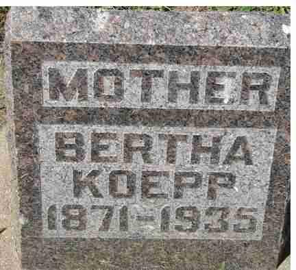 KOEPP, BERTHA - Minnehaha County, South Dakota   BERTHA KOEPP - South Dakota Gravestone Photos