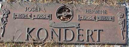 KONDERT, JOSEF - Minnehaha County, South Dakota   JOSEF KONDERT - South Dakota Gravestone Photos