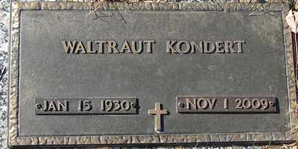 KONDERT, WALTRAUT - Minnehaha County, South Dakota | WALTRAUT KONDERT - South Dakota Gravestone Photos