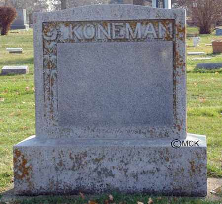 KONEMAN, HEADSTONE - Minnehaha County, South Dakota | HEADSTONE KONEMAN - South Dakota Gravestone Photos