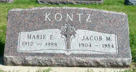 KONTZ, JACOB M. - Minnehaha County, South Dakota | JACOB M. KONTZ - South Dakota Gravestone Photos