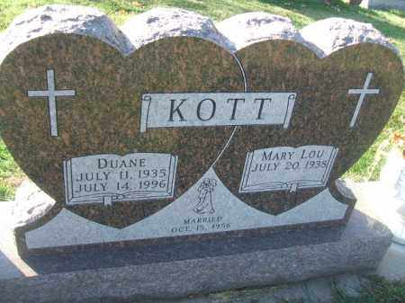 KOTT, DUANE - Minnehaha County, South Dakota | DUANE KOTT - South Dakota Gravestone Photos