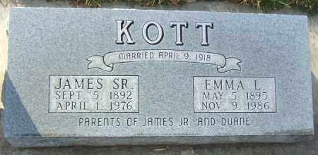 KOTT, EMMA L. - Minnehaha County, South Dakota | EMMA L. KOTT - South Dakota Gravestone Photos