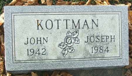 KOTTMAN, JOHN JOSEPH - Minnehaha County, South Dakota | JOHN JOSEPH KOTTMAN - South Dakota Gravestone Photos
