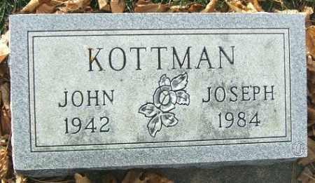 KOTTMAN, JOHN JOSEPH - Minnehaha County, South Dakota | JOHN JOSEPH KOTTMAN - South Dakota Gravestone Photos