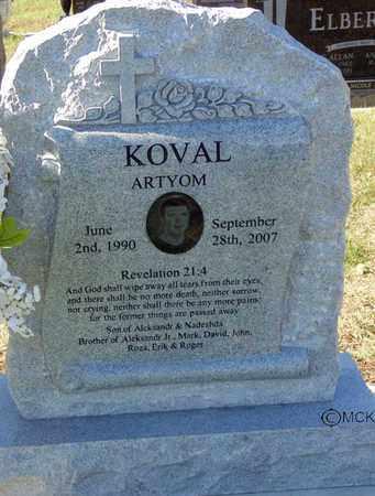 KOVAL, ARTYOM - Minnehaha County, South Dakota | ARTYOM KOVAL - South Dakota Gravestone Photos