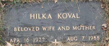 KOVAL, HILKA - Minnehaha County, South Dakota | HILKA KOVAL - South Dakota Gravestone Photos