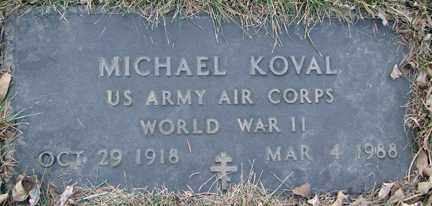 KOVAL, MICHAEL (WWII) - Minnehaha County, South Dakota | MICHAEL (WWII) KOVAL - South Dakota Gravestone Photos