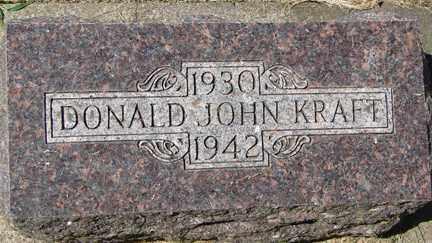 KRAFT, DONALD JOHN - Minnehaha County, South Dakota   DONALD JOHN KRAFT - South Dakota Gravestone Photos