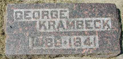KRAMBECK, GEORGE - Minnehaha County, South Dakota | GEORGE KRAMBECK - South Dakota Gravestone Photos
