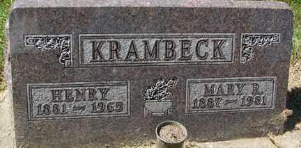 KRAMBECK, MARY R. - Minnehaha County, South Dakota | MARY R. KRAMBECK - South Dakota Gravestone Photos