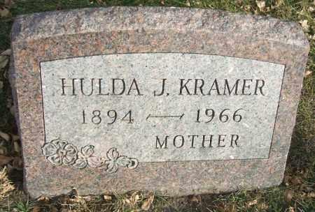 KRAMER, HULDA J. - Minnehaha County, South Dakota   HULDA J. KRAMER - South Dakota Gravestone Photos