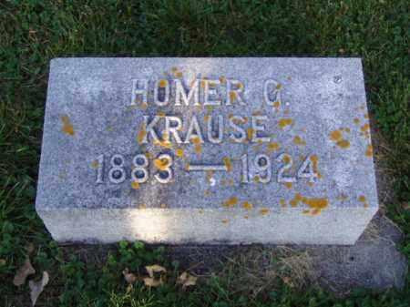 KRAUSE, HOMER GUSTAVUS - Minnehaha County, South Dakota | HOMER GUSTAVUS KRAUSE - South Dakota Gravestone Photos