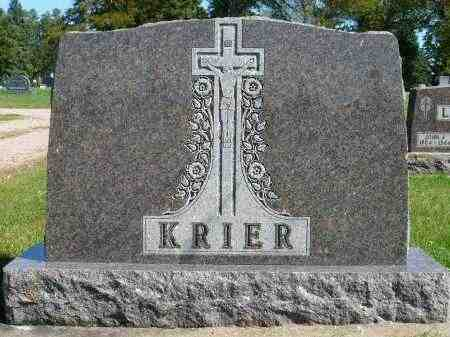 KRIER, FAMILY MARKER - Minnehaha County, South Dakota | FAMILY MARKER KRIER - South Dakota Gravestone Photos